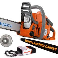 "Husqvarna 240 Chainsaw Carving Package with Stock 16"" Bar"