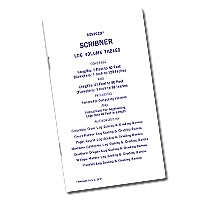 Scribner Log Volume Tables FREE SHIPPING